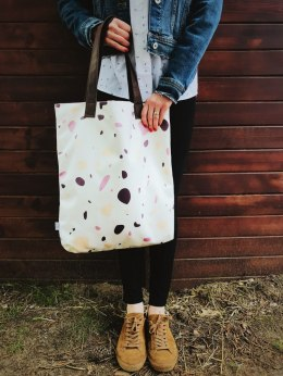 Bag Mr. m Terrazzo white/ears natural leather