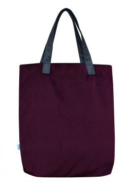 Bag Mr. m velvet burgundowa/ears natural leather