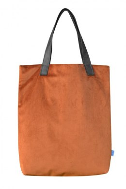 Bag Mr. m velvet terracotta/ears natural leather
