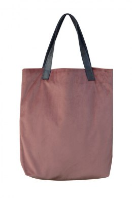 Bag Mr. m velvet dirty pink/ears natural leather
