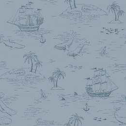 WALL WALLPAPER NEWBIE Treasure Island